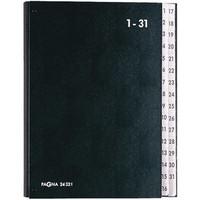 Pultordner, Hartpappe, 1 - 31, A4, 32 Fächer, schwarz
