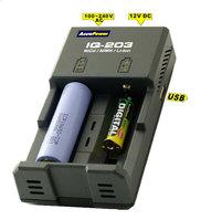 AccuPower IQ-203 Ladegerät für Li-Ion & Ni-MH mit Powerbank-Funktion