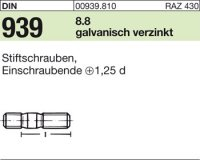 DIN939 8.8 galZn M10x80