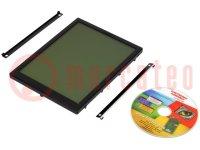 Kijelző: LCD; grafikus; FSTN Positive; 320x240; fekete; LED; PIN:48