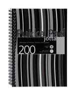 Pukka Pad Jotta Notebook Wirebound Perforated Ruled 80gsm 200pp A5 Black Stripes Ref JP021-5 [Pack 3]
