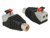 Adapter Cinchbuchse an Terminalblock mit Drucktasten 2 Pin, Delock® [65565]