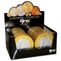 Große Milch-Schokoladen Euro-Münzen Taler 10cm 20 Stück