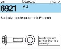 6kt.schr. mit Flansch M6x10