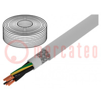 Vodič; TOPFLEX-600-C-PVC; licna; Cu; 4G2,5mm2; PVC; šedá; 0,6/1kV