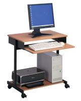 DURABLE PC Arbeitsstation Standard, schwarz/buche