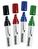 Legamaster Boardmarker JUMBO TZ 180 4er Set, nachfüllbar, 3-12 mm, 4 Farben,Etui