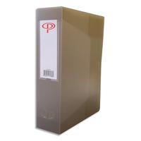 5 ETOILES Boîte de classement dos de 8 cm, en polypropylène 7/10e gris