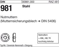 Reyher DIN981 KM15M75x2 Nutmutter