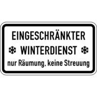 Modellbeispiel: Winterschild/Verkehrszeichen, (Eingeschränkter Winterdienst nur Räumung, keine Streuung) Nr. 2003