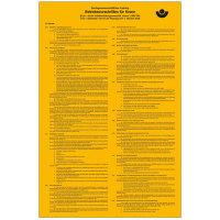 Aushang Betriebsvorschriften f Krane Berufsgenossenschaftlicher,selbstkl.33x50cm DGUV Vorschrift 52