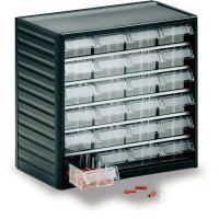 TRESTON Kleinteilemagazin mit 24 Einzelschubladen, Rahmengröße (BxHxT): 31,0 x 29,0 x 18