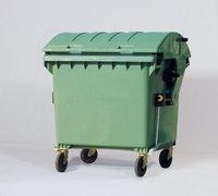 Großmüllbehälter aus Polyethylen (PE), 1100 Liter Volumen, grün, Abb. ähnlich