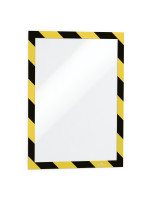 DURABLE Info-Rahmen DURAFRAME® SECURITY A4, selbstklebend mit Magnetverschluss, gelb/schwarz