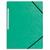 5 ETOILES Chemise 3 rabats monobloc à élastique en carte lustrée 5/10e, 390g. Coloris vert.