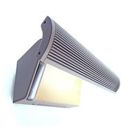 LED Wandleuchte inkl. Philips Fortimo LED, 220-240V AC/50-60Hz, 3000K, 23W, schwenkbar 40°, Aluminium Druckguss - Restposten - S
