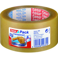 Packband ultra strong, PVC, sk, 50 mm x 66 m, transparent