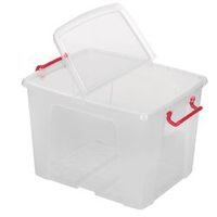 Office Depot Opbergdoos Transparant Plastic 39,5 x 50 x 32 cm