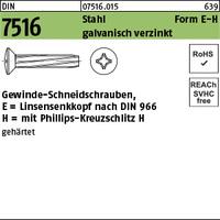 DIN 7516 Stahl E M 6 x 25 -H galv. verzinkt gal Zn S