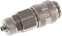 KDK4NW5ES Kupplungsdose (NW5) 6 x 4mm Schlauch, Edelstahl