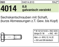 ISO4014 M22x80