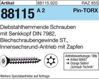 Diebstahlhemmende Schrauben 4,2x25
