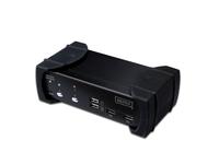 DVI-Audio-USB-KVM Switch, 2-Port, mit integriertem USB 2.0 Hub, Digitus® [DS-12820]