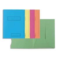 "EXACOMPTA Paquet de 50 chemises pré-imprimés 2 rabats ""SUPER 250"" en carte 210 grammes coloris assortis"
