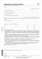 Vollmacht zur Hausverwaltung, 1 Seite, DIN A4