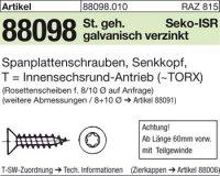 Spanplattenschrauben 4x16-T20