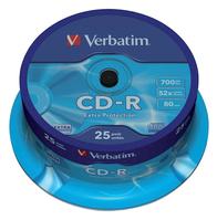 CD-R VERBATIM 700MB 52X 25PK SPINDEL