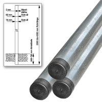 Rohrpfosten feuerverz Stahl n IVZ-Norm Länge:2m,Rohr-¥:6 cm,Wandst:0,2cm,6x200cm IVZ