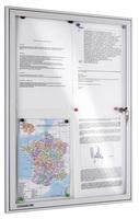 Legamaster Schaukasten ECONOMY Whiteboard für den Innenbereich, 9x DIN A4