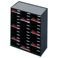 Paperflow Modulodoc Mailsorter Plastic Stackable 36x A4 Compartments W674xD308xH791mm Black Ref 80301