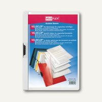 Veloflex Klemmmappe VELOCLIP® DIN A4, Hart-PVC, Metallclip, weiß