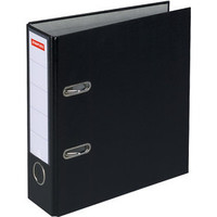 Ordner Color, PP, Einsteckrückenschild, m.Griffloch, A4, 80mm, schwarz