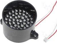 Modul: LED klaszter; Szín: piros; 9,25VDC; 40°; Dióda szám:50