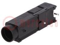 Aljzat; csöves biztosítékok; Szerelés: THT; 5x20mm,6,3x32mm; 15A
