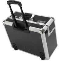 Görgős kerekű pilóta táska, C-2, 48 x 23 x 38 cm, ezüst/szén
