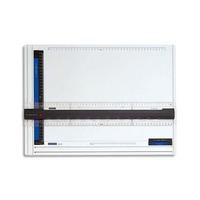STAEDTLER Planche à dessin en plastique anti-choc avec règle ergonomique FIXMATIC format A3