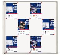 Schaukasten X-tra!Line® für 12x A4, 96 x 98 x 3,5 cm, weiß, magnethaftend