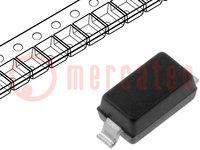 Diodo: Zener; 0,5W; 3,3V; SMD; bobina, cinta; SOD123