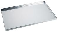 Backblech GN 1/1 aus 1,5 mm starkem Aluminiumblech, ungebeizt, aus einem Stück