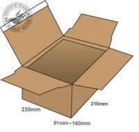 Blakes Postal Box Peel & Seal WxDxH 310x230x81mm Kraft Ref PEB40 [Pack 20]
