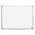 BI-OFFICE Tableau Blanc Earth acier laquée, magnétique, cadre aluminium, porte-stylos Format L90 x H60 cm