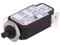 Interruptor magnetotérmico; Unom:240VCA; 48VCC; 5A; Orif: Ø9,6mm