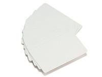 Plastikkarte - 30mil, 0,76mm (blanko), weiß mit Unterschrifts-Feld ++Abgabe nur als VPE 100ter Pack++