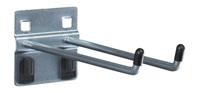 Produktbild - perfo Doppelhaken Länge 150mm VE 5 mit perfo Doppelaufnahme D 6mm BxTxH: 60x150x60mm verzinkt