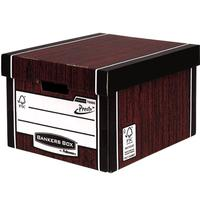 Bankers Box by Fellowes Premium 725 Classic Storage Box Woodgrain Ref 7250502 [Pack 10]