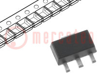 Sensor: Hall; Case: SOT89; Range: ±1000Gs; Usup:2.7÷6.5VDC